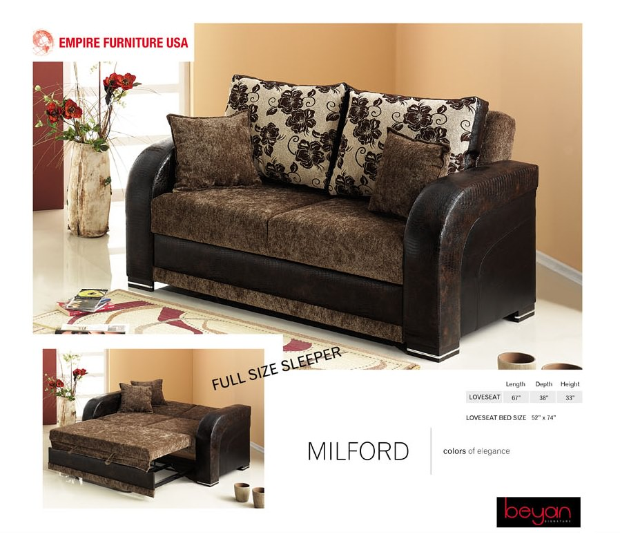 Milford Loveseat By Empire Furniture Usa