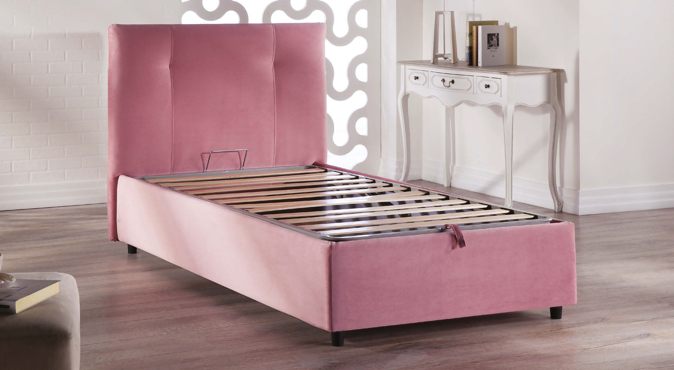 Osaka Lift Up Storage Bed Leather Textile Twin By Sunset (Istikbal (Sunset  Furniture)