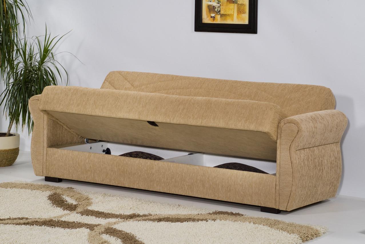 rain chenille mimoza beige sofa bed by kilim