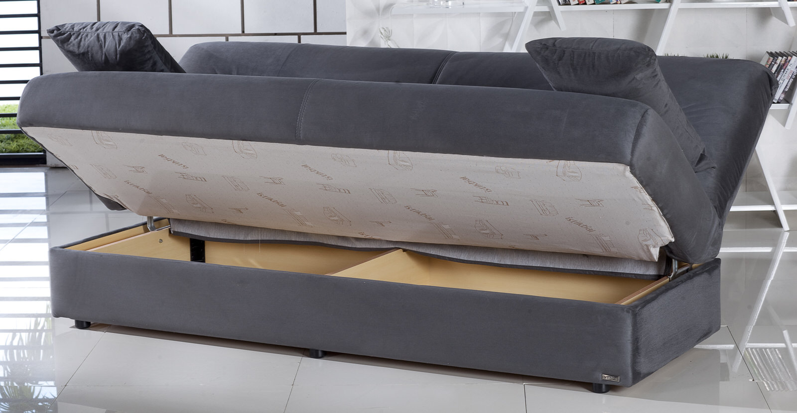 regata rainbow dark gray convertible sofa bed by sunset sunset istikbal