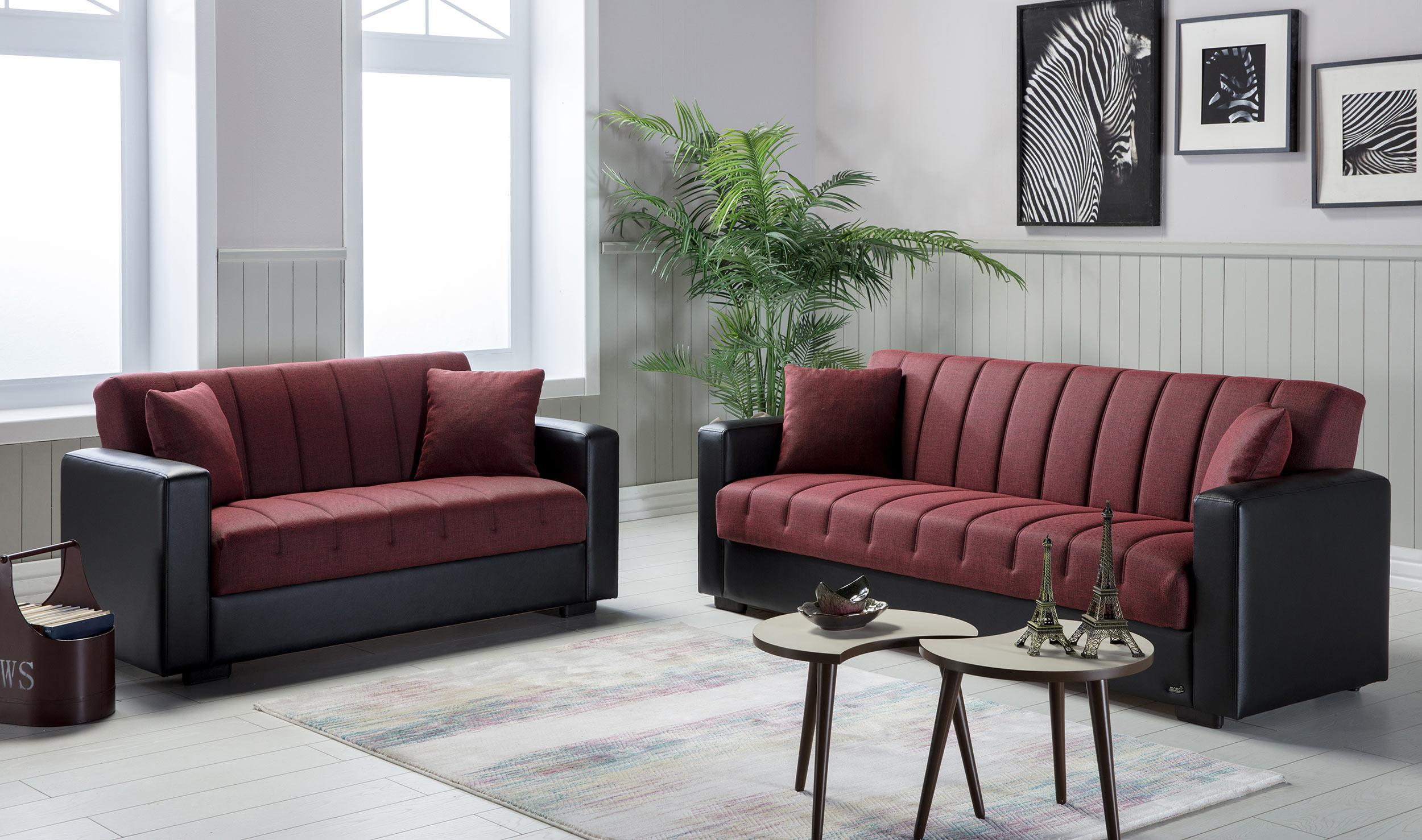 Sidney Bolzoni Red Sofa & Love Set by Istikbal Furniture