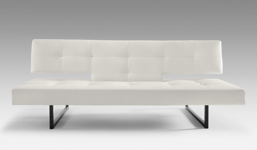 Outstanding Spacer White Leather Textile Sofa Bed By Innovation Pdpeps Interior Chair Design Pdpepsorg
