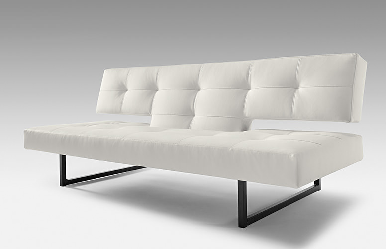Incredible Spacer White Leather Textile Sofa Bed By Innovation Pdpeps Interior Chair Design Pdpepsorg