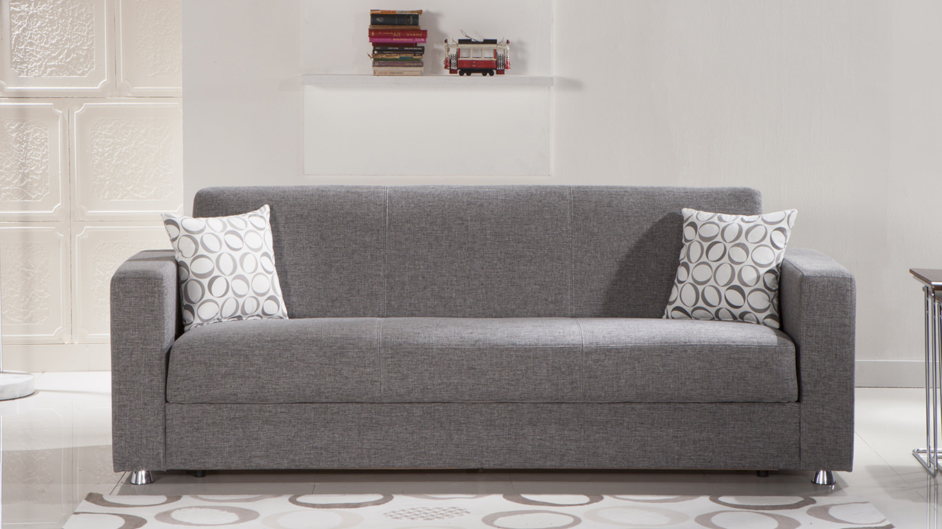 Tokyo Diego Gray Convertible Sofa Bed By Istikbal Furniture