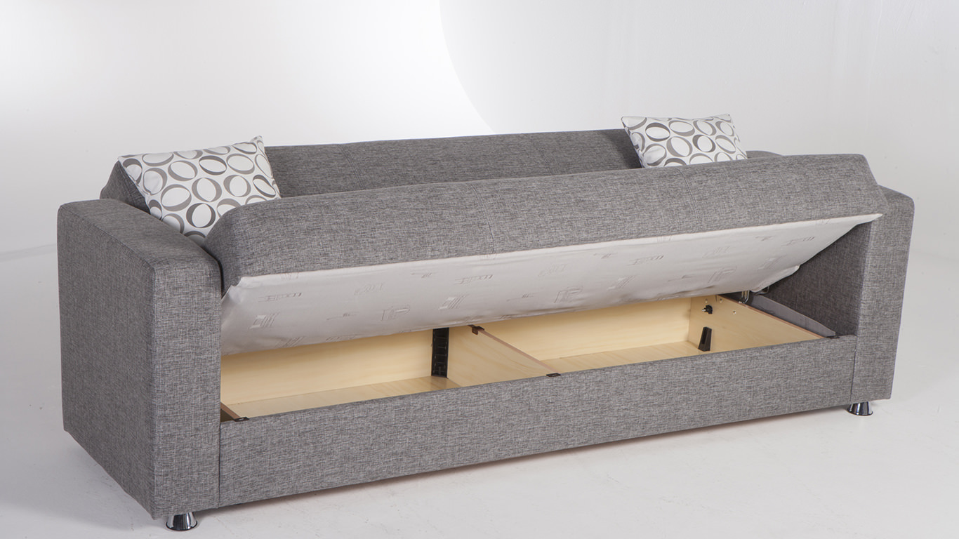 Tokyo diego gray convertible sofa bed by istikbal sunset for Sofa bed sale