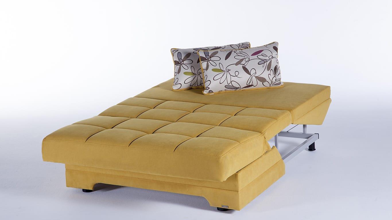 Twist Optimum Yellow Loveseat Sleeper By Istikbal Furniture