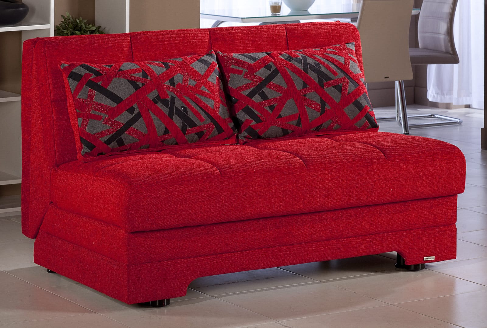 twist story red loveseat sleeper by sunset sunset istikbal