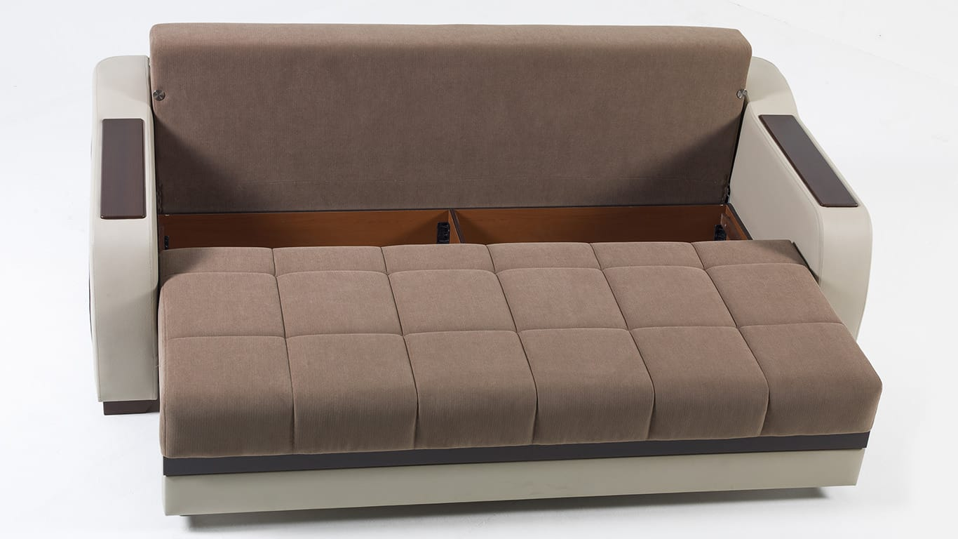 Ultra Optimum Brown Convertible Sofa Bed By Istikbal Furniture