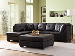 500606 Sectional Sofa Black by Coaster (Coaster Fine Furniture)