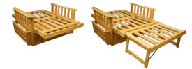 Futon Frame Bed Position